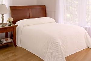 S. Lichtenberg Co. Melinda 100-Percent Cotton Queen Bedspread, White