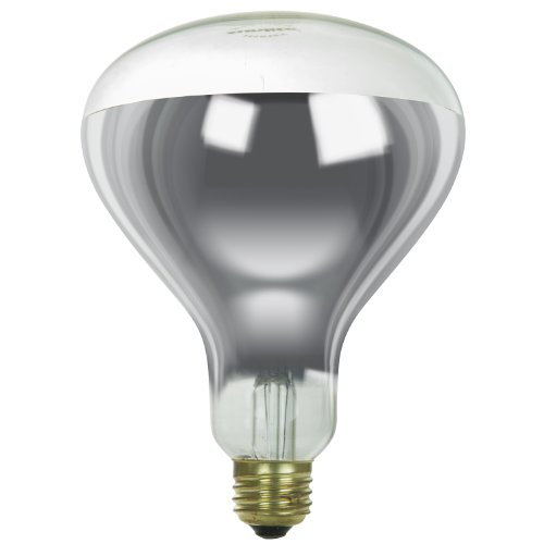Sunlite 375R40/H/CL Incandescent 375-Watt, Medium Based, R40 Heat Lamp Bulb, Clear