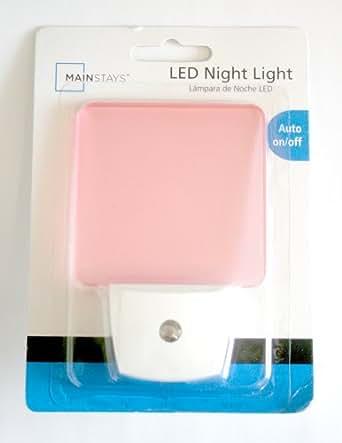Pink LED Nigt Light Auto On/Off