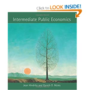 Intermediate Public Economics Jean Hindriks and Gareth D. Myles