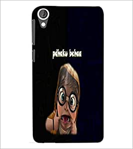 PrintDhaba Padhaku Baccha D-4692 Back Case Cover for HTC DESIRE 820 (Multi-Coloured)