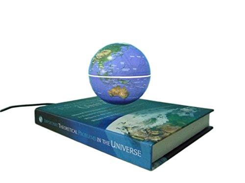 Anti Gravity Globe World Map Gift Book Style Novelty Inductive Led Lighting Magnetic Levitation Floating Spinning Globe Home Office Decoration