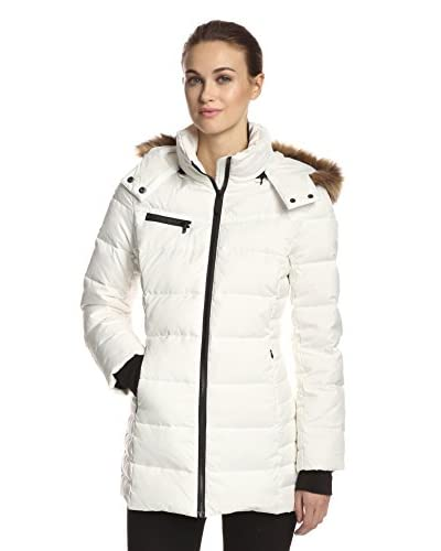 Marc New York by Andrew Marc Women's Paris Down Coat with Faux Fur  [White]
