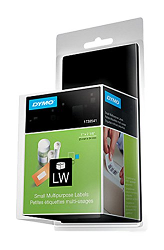 DYMO LW Small Labels, 1-Inch x 2-1/8-Inch, White, Self-Adhesive, Roll of 500, For LabelWriter Label Makers (Label Maker Small compare prices)