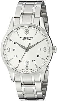 Victorinox Mens Silver Face Watch