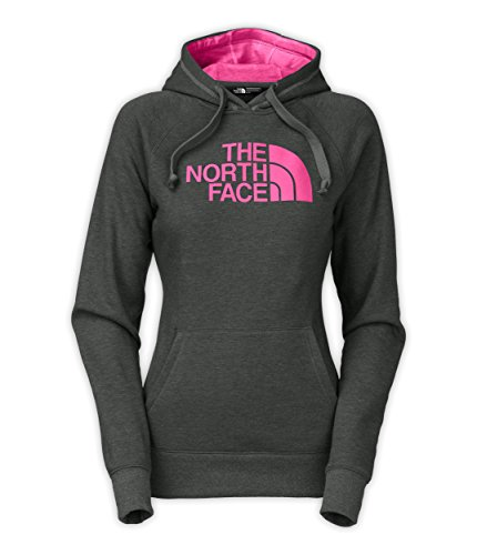 The North Face Women's Half Dome Hoodie (LARGE, TNFDarkGreyHeather/Raspberry)