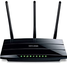 TP-LINK TD-W8970 Wireless N300 Gigabit ADSL2+ Modem Router, 2.4Ghz 300Mbps, 802.11b/g/n, 2 USB, 5dBi detachable antennas by TP-Link