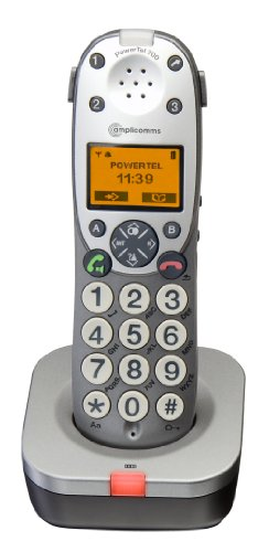 Amplicomms Powertel 701 Big Button Cordless DECT Additional Handset - Anthrachite picture