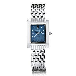 University of Wisconsin Ladies Swiss Watch - Blue Quad Watch with Bracelet by M.LaHart & Co.