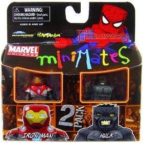 Picture of Diamond Select Marvel MiniMates Series 27 Mini Figure 2-Pack Ultimate Hulk and Ultimate Iron Man (B002M3MYQQ) (Iron Man Action Figures)