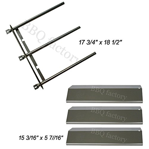 bbq factory Replacement Rebuild Kit fits Sonoma CGR27, CGR27LP, CGR30, CGR30LP Gas Grill Stainless Steel Burner & Stainless Steel Heat Plates