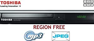 Toshiba Multi Region DVD Player with DivX + MP3 + USB + JPEG PLUS FREE Bluetooth Headset with every purchase