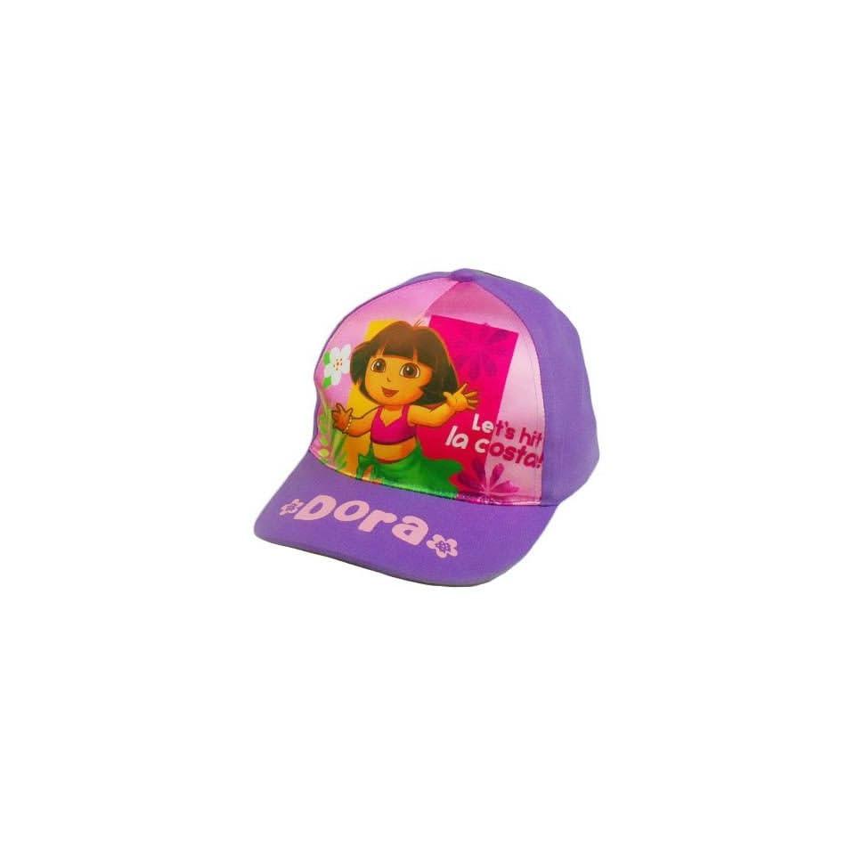 a759ea586538d HAT GORRA CAP DORA EXPLORER YOUTH KIDS GIRLS NICK JR NICKELODEON PURPLE PINK