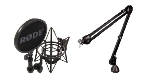 All-Inclusive Podcasting Accessory Bundle: Rode Psa1 Boom Arm With Rode Sm6 Shock Mount With Pop Filter - Ideal For All Studio Aplications