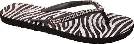 Nomad Women'S Spark Flip Flop,Black Zebra,10 M Us front-952738