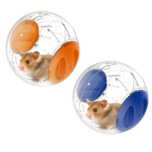 Emours Run-About Mini 4.8 inch Small Animal Hamster Run Exercise Ball ,2 Pack 41IfbhWUlZL