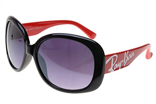 [Casual fashion sunglasses Aviator sunglasses Jackie Ohh RB7019 Sunglasses Red/Black Frame AIX] (Iconic Women In History Costumes)