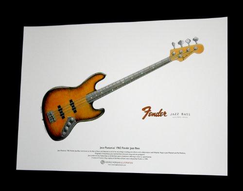 1962 Fender Jazz « Bass of Doom » de Jaco Pastorius ART POSTER taille A3