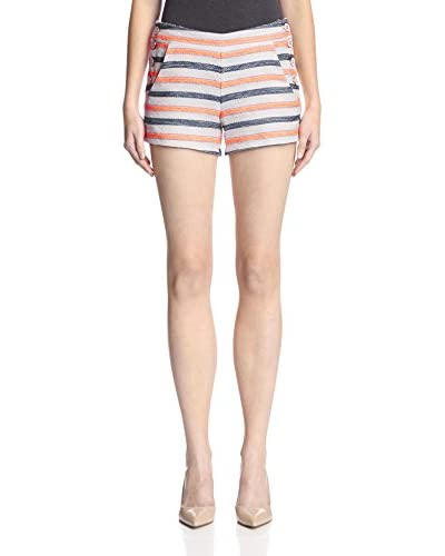 Hutch Women's Textured Sailor Shorts  [Navy/Sunkist]