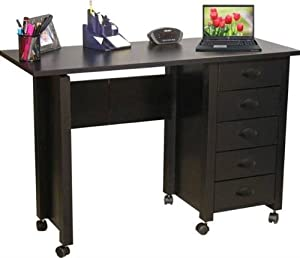 "Venture Horizon 1017-21BL VHZ Office 43"" W Craft Mobile Desk in Black"
