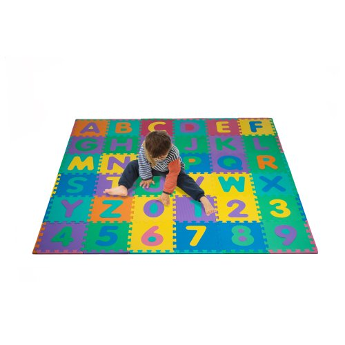 Foam Floor Alphabet and Number Puzzle Mat for Kids, 96-Piece (Kid Floor Mat compare prices)