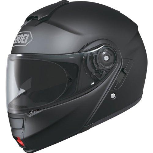 Shoei Solid Neotec Modular Motorcycle Helmet - Matte Black / Large