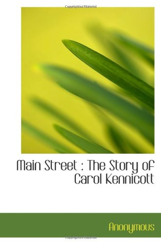Main Street : The Story Of Carol Kennicott front-916626