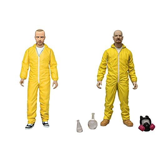Mezco Toyz Breaking Bad: Walter White & Jesse Pinkman in Yellow Hazmat Suits Action Figure