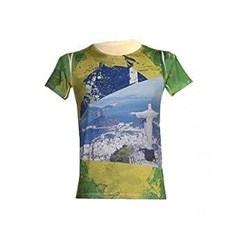 Waooh - T-Shirt Du Brésil Rio - VERT, S