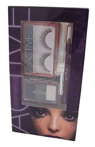 Active Glamour Midnight Workshop 3 - 3 x Ombretti + Eye Liner Matita + Ciglia