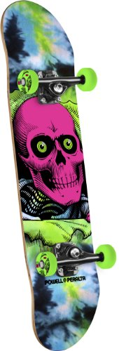 Powell-Peralta Black Light Ripper Complete Skateboard, Tie Dye