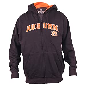 University of Auburn Tigers Navy Full Zip Hoodie by 3 Four