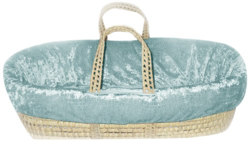 Baby Doll Crocodile Moses Basket, Blue