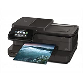 HP Photosmart 7520 e-All-in-One - Impresora multifunción de tinta color (A4, monocromático 14 páginas por minuto, color 10 páginas por minuto, USB 2.0, Wifi)