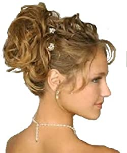 CURLY OR MESSY DRAWSTRING UPDO Messy Curly Bun