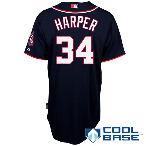 Washington Nationals Authentic Bryce Harper Alternate 2 Cool Base Jersey at Amazon.com