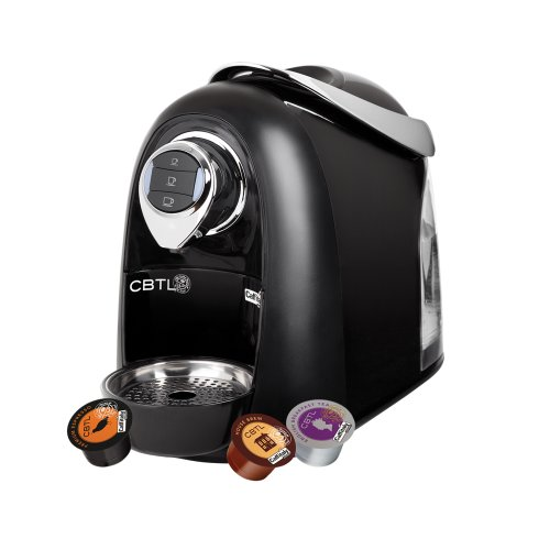 CBTL Kaldi 9909 Single-Cup Brewer Espresso, Coffee and Tea Bundle, Black