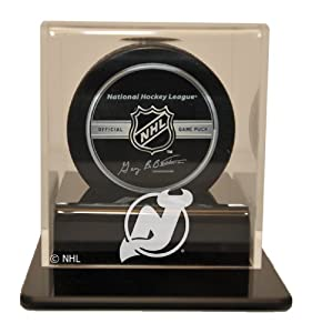 NHL New Jersey Devils Single Hockey Puck Display Case by Caseworks