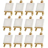 "Mini Artists 3""x3"" Canvas & Easel Set Painting Craft Drawing - Set of 12"