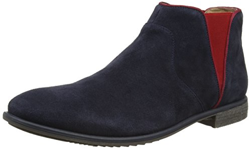 Marc ShoesFrisco - Stivaletti a gamba corta mod. Chelsea, imbottitura leggera Uomo , Blu (Blau (navy-combi 796)), 41