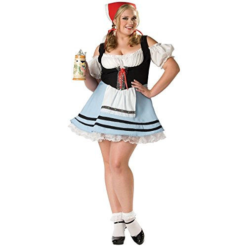 GSG Beer Girl Costume Adult Womens Sexy German Oktoberfest Maid Gretel Dress (Adult Gretel Costume)