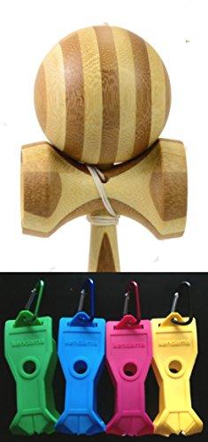 Bamboo KENDAMA + PINK Holster + Extra String - 1