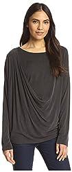 SEN Women's Drape Top, Carbone, S US