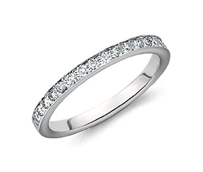 Brand New 0.40 Carat Pave Set Round Diamond Delictae Full Eternity Ring, 9k White Gold
