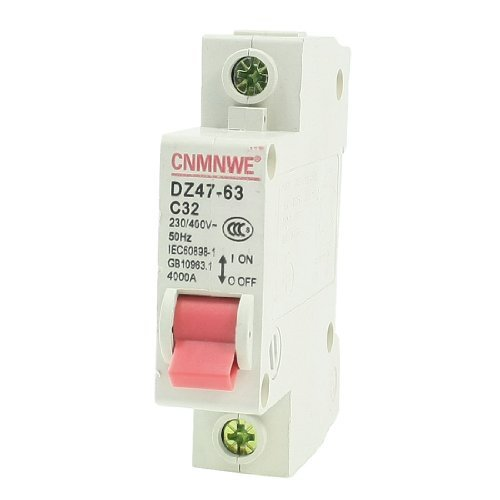 Water & Wood Ac 230/400V 20A 1-Pole Overload Protection Mcb Miniature Circuit Breaker