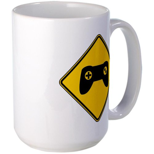 Cafepress Warning : Gamer Large Mug Large Mug - Standard