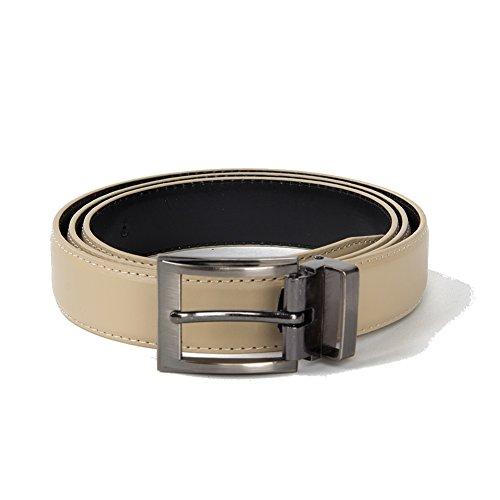 Brand Q Mens Plain Belt one Beige