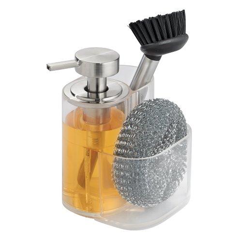 Interdesign Midi Kitchen Soap Dispenser Sponge And Scrubby Brush Caddy New Ebay
