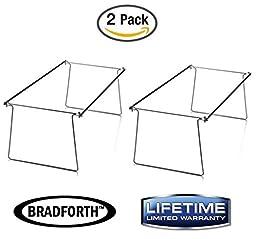 Bradforth Hanging File Frame, Letter Size, File Folder Drawer Frames, Adjustable 14\