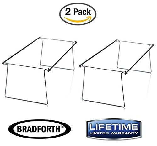 Bradforth Hanging File Frame, Letter Size, File Folder Drawer Frames, Adjustable 14